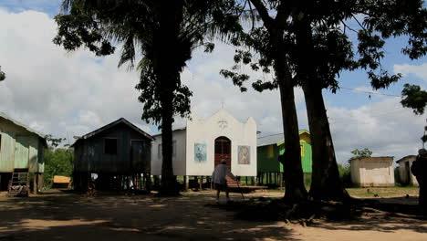 Brazil-Amazon-island-village-with-church