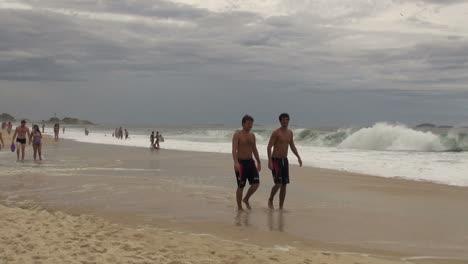 Rio-de-Janeiro-Ipanema-Beach-young-men-and-waves