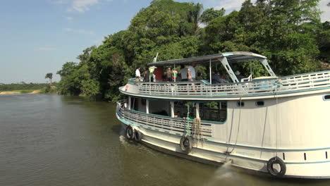 Brazil-Amazon-backwater-near-Santarem-back-of-river-boat-s