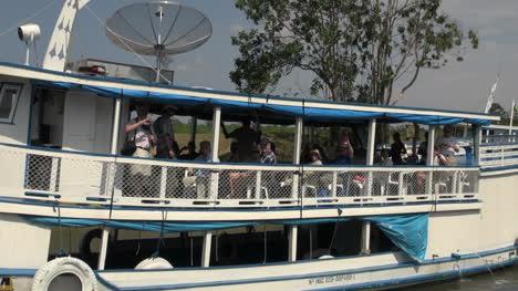 Brazil-Amazon-backwater-near-Santarem-boats-on-backwaters
