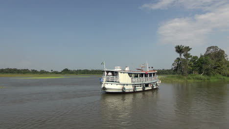 Brazil-Amazon-backwater-river-boat-reaching-shore-s