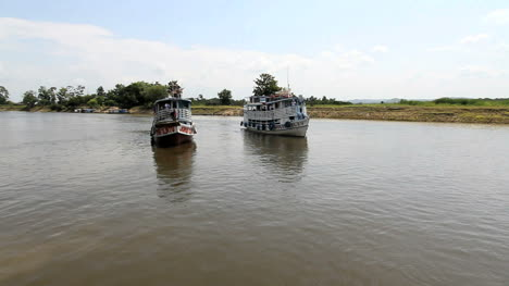 Brazil-Amazon-backwater-two-river-boats-c