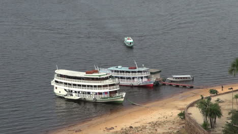 Brazil-Rio-Negro-river-boats-and-small-boat-s
