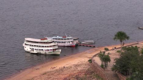Brazil-Rio-Negro-river-boats-at-Manaus-s