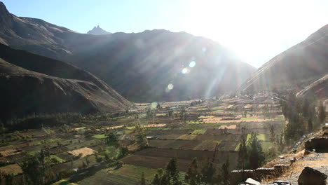 Peru-Sacred-Valley-floor-with-fields-and-sun-rays-5