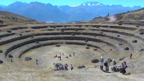 Peru-Moray-agricultural-terraces-with-distant-mountains