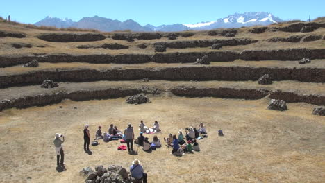 Peru-Moray-agricultural-terraces-with-tourists