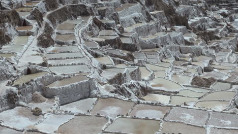 Peru-salt-pans-man-walking