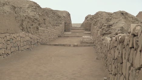 Peru-Pachacamac-ancient-roadway-between-walls-3