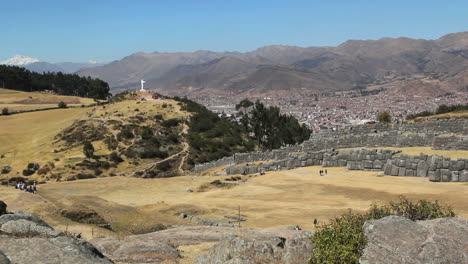 Peru-Sacsayhuam-n-view-with-Christ-statue-and-city-of-Cusco-c