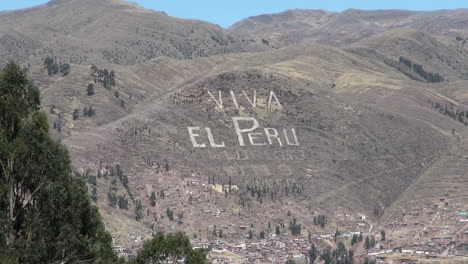 Peru-Viva-el-Peru-sign-on-hill-above-Cusco-s