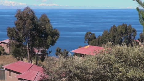 Peru-Taquile-hillside-red-roof-houses-look-over-lake-8