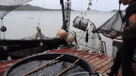 Bora-Bora-showing-equipment-for-pearl-culture