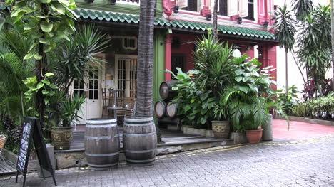 Singapur-Stadtveranda-Und-Fässer
