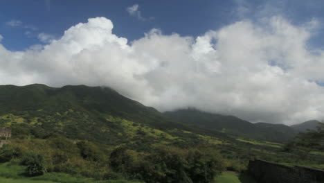 St-Kitts-view-from-Brimstone-Hill-clouds-in-time-lapse
