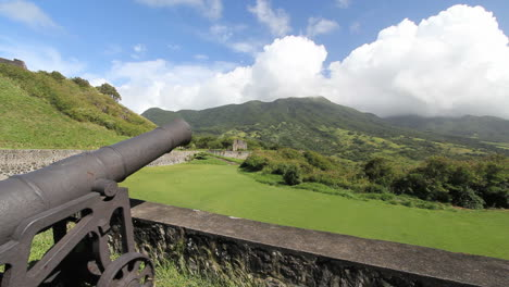 St-Kitts-view-from-Brimstone-Hill-with-aimed-cannon