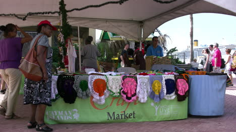 Grand-Cayman-George-Town-people-shopping-for-crafts