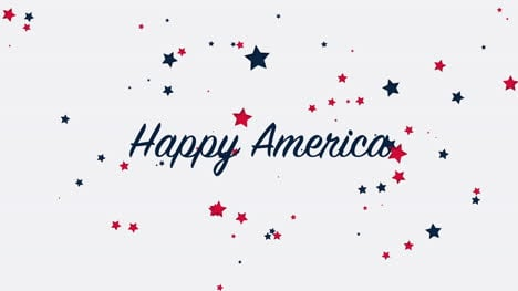 Animated-closeup-text-Happy-America-on-holiday-background