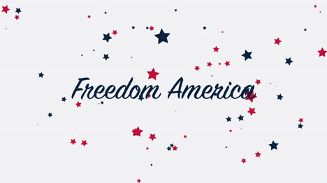Animated-closeup-text-Freedom-America-on-holiday-background