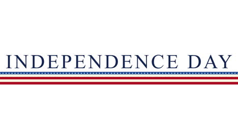 Animated-closeup-text-Independence-Day-of-USA-on-holiday-background