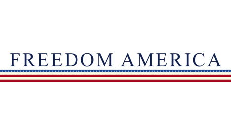 Animated-closeup-text-Freedom-America-on-holiday-background-1