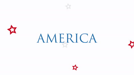 Animated-closeup-text-America-on-holiday-background-2