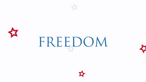 Animated-closeup-text-Freedom-on-holiday-background-1