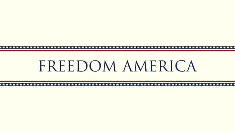 Animated-closeup-text-Freedom-America-on-holiday-background-2