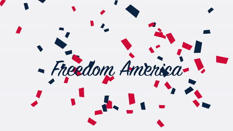 Animated-closeup-text-Freedom-America-on-holiday-background-3