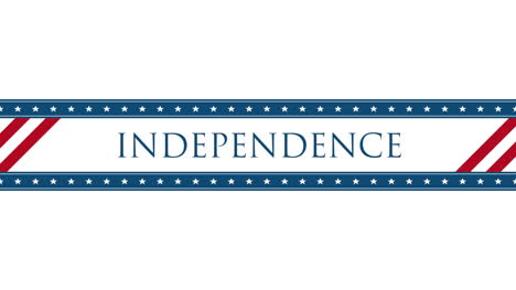 Animated-closeup-text-Independence-on-holiday-background-1