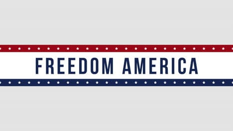 Animated-closeup-text-Freedom-America-on-holiday-background-4