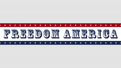 Animated-closeup-text-Freedom-America-on-holiday-background-5