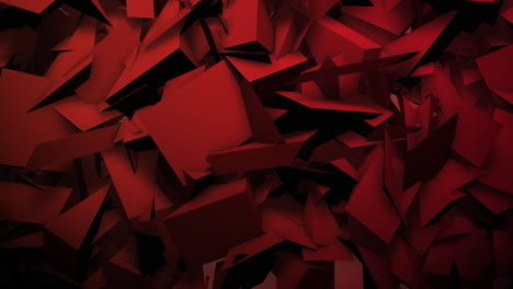 Motion-red-dark-geometric-shapes