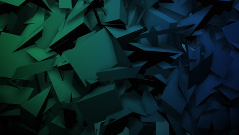 Motion-dark-green-triangles-shapes