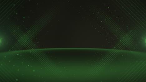Bewegung-Grüne-Punktlinien