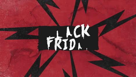 Animación-Texto-De-Introducción-Viernes-Negro-Sobre-Fondo-Grunge