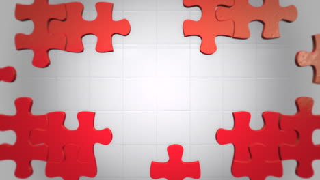 Motion-red-pieces-of-puzzle-abstract-background