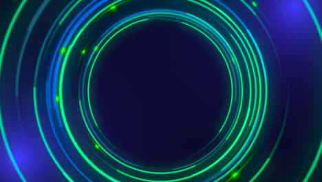 Motion-green-circles-abstract-background-1