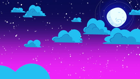 Cartoon-animation-background-with-motion-clouds-and-moon-1