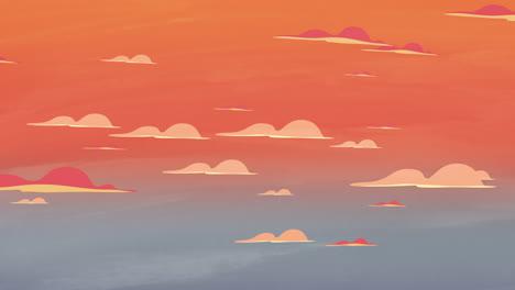 Fondo-De-Animación-De-Dibujos-Animados-Con-Nubes-De-Movimiento