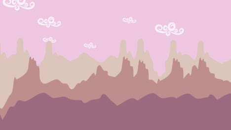 Cartoon-animation-background-with-mountain-and-clouds-2