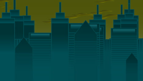 Cartoon-animation-background-with-motion-clouds-and-buildings-1