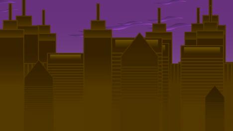 Fondo-De-Animación-De-Dibujos-Animados-Con-Nubes-De-Movimiento-Y-Edificios-2