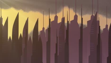 Fondo-De-Animación-De-Dibujos-Animados-Con-Nubes-De-Movimiento-Y-Edificios-4