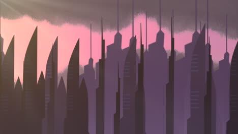 Fondo-De-Animación-De-Dibujos-Animados-Con-Nubes-De-Movimiento-Y-Edificios-5