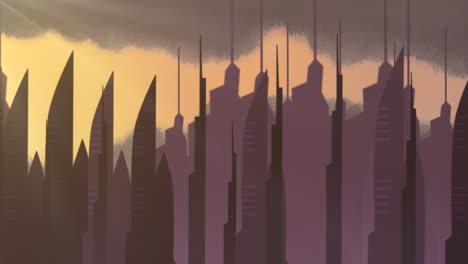 Fondo-De-Animación-De-Dibujos-Animados-Con-Nubes-De-Movimiento-Y-Edificios-6