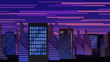 Cartoon-animation-background-with-motion-clouds-and-buildings-7