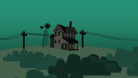Fondo-De-Animación-De-Dibujos-Animados-Con-Casa-En-La-Granja-1