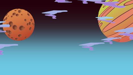 Fondo-De-Animación-De-Dibujos-Animados-Con-Luna-En-El-Espacio-2