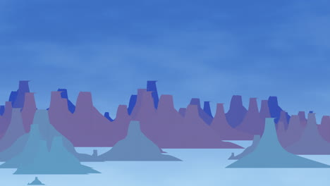 Cartoon-animation-background-with-mountain-and-clouds-3